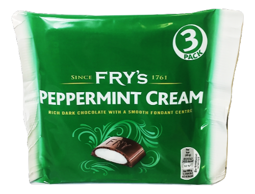 FRY'S PEPPERMINT CREAM 3PK x 18